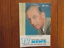 November 13, 1960 Chicago Daily TV News Magazine (OMNIBUS/ALISTAIR  COOKE)