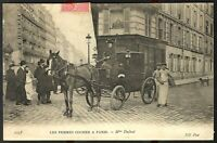 WOMAN CONDUCTOR OF HORSE CARRIAGE TRANSPORTATION HISTORY POSTCARD