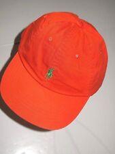 Polo Ralph Lauren classic chino sport cap unisex one size orange cap green pony