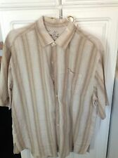 Tommy Bahama Linen Button Down Short Sleeve Shirt. XL EUC