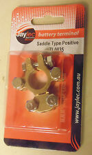 Jaylec SAE Brass Battery Positive Terminal w/ 2x Accessory Connections TL0035 +