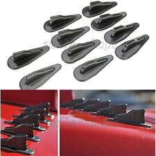 10pcs Carbon Fiber Look Car EVO Style Exterior Roof Shark Fins Wing Spoilers Kit