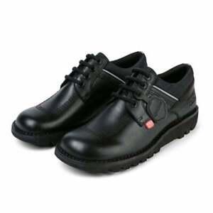 Kickers Mens Kick Lo Flex Leather Shoes (Black)