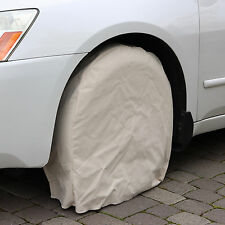 "California Tire Covers: Set of 4 Cotton Canvas Covers Up To 27"" Diameter Tires"