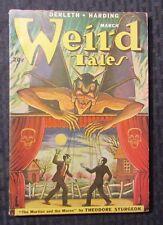 1949 WEIRD TALES v.41 #3 FN Matt Fox Devil Cover Derleth Sturgeon PULP Fiction