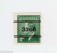 Canada 1949  #2-284 Θ used F - Precancel Kitchener
