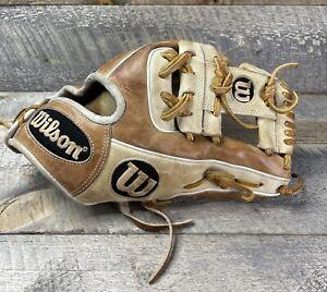 """Wilson A2000 1786 11.5"""" Brown/blonde Leather Infielder Glove- Right Hand Throw"""