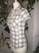 Karierte H&M Kurzarm Mädchen-Tops, - T-Shirts & -Blusen