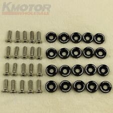 BLACK 20PCS CNC BILLET ALUMINUM FENDER WASHER ENGINE BAY DRESS UP KIT