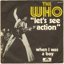 """THE WHO """"LET'S SEE ACTION"""" 70'S SP  POLYDOR 2058 168"""
