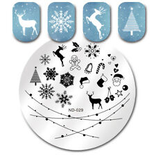 Stamping Plates Christmas Snowflake Deer Manicure Nail Art Image Plates ND-029