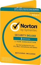 Norton Security Deluxe 2017 3 Devices 1 Year License Card Only EU version