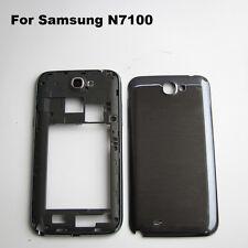 Black bezel frame middle frame battery door cover samsung galaxy note 2 n7100