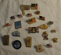 USA United States Olympics Pin Lapel Lot Aminco Rhinestone Flag 22 Pins Pinbacks
