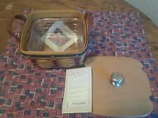Longaberger Proudly American Medium Berry Basket Combo New Mint!