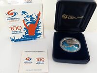 .2009 SWIMMING AUSTRALIA CELEBRATING 100 YEARS 1OZ 99.9% SILVER $1 + BOX & COA