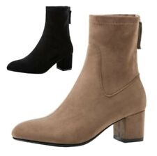 Fashion Women Winter Autumn Chunky Heel Office OL Work Casual Ankle Boots Punk L