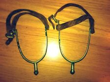 New Listing1930s 1940s Vintage pair western metal leather Horseback Riding Spurs authentic