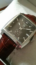 GENUINE TAG HEUER MONACO WW2110.NM9297 AUTOMATIC BROWN DIAL MENS LUXURY WATCH