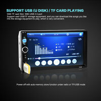 "Double 2Din 7"" Touch Bluetooth Car Stereo MP3 MP5 Player HD In Dash TV Radio FM"