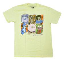 Cartoon Network Regular Show Adult Men's T Shirt Yellow size Medium Cartoon Show