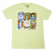 Cartoon Network Regular Show Character Graphics Mens Shirt Yellow Medium TV Show