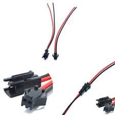 3 Stücke JST 2,54 SM 2-Pin stecker männlich und weiblich mit Kabeln 18AWG 15 CM