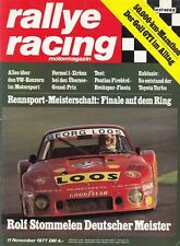 RALLYE RACING Magazin 1977 VW Golf GTi I Dauertest Porsche 935 Zakspeed Ford +++
