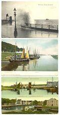 NEDERLAND 1908/1909   3 x AK   ZEELAND  - VLISSINGEN -