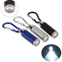 Retracted Mini Portable Keychain Key Ring LED Flash Light Torch Lamp FlashLight