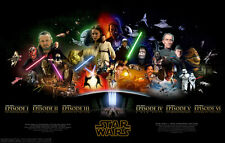 Movie POSTER Star Wars Saga all major characters collage 20x31.5 #002