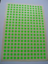 247  Markierungspunkte 10 mm Leuchtgrün  RUND Klebepunkte Grün Papier