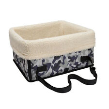 Small Large Dog Booster Back Seat Clip-on Leash Kennel Seat Carrier Camou L