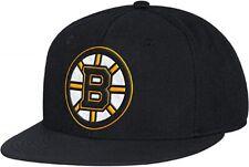 Boston Bruins adidas NHL Structured Flat Bill Flex Fit Black Hat / Cap size L/XL