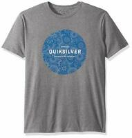 Quiksilver Men's Crew Neck Printed Raging Dream Tee (Medium Gray Heather, 2XL)