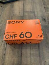 SONY  CHF  60  BLANK CASSETTE TAPE  X 10