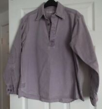 Front Row Ladies Shirt size Sm Long sleeves collar Purple 3 buttons 100% Cotton