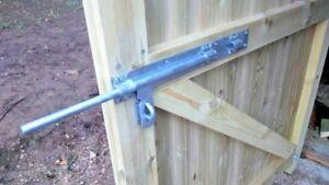 Heavy cross pattern door bolt gate fittings farm wooden gates lock padlock fence