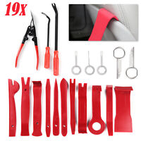 19 pcs Car Door Molding Dash Panel Trim Removal Pry Tool Kit & Clip Pliers Trims