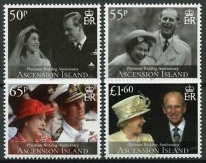 Ascension Isl Royalty Stamps 2017 MNH Queen Elizabeth II Platinum Wedding 4v Set