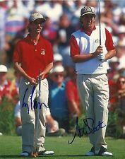 Autographed Steve Pate Corey Pavin 1991 Ryder Cup 8x10 Photo Original