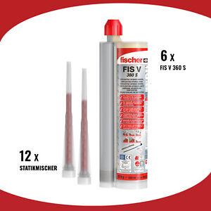 BOX 6 FISCHER Injektionsmörtel FIS V 360 S Hochleistungsmörtel 360 ml