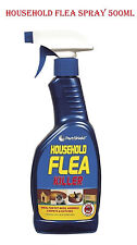 Flea Spray Kills Flea & Larvae Use in Cat Dog Pets Bed Carpet Furniture 500ml