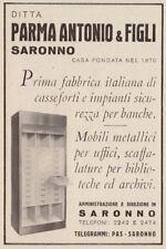 Z3801 Ditta Parma Antonio & Figli - Saronno - Pubblicità d'epoca - 1939 old ad
