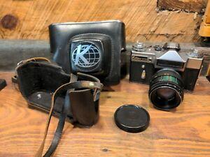 KALIMAR SR200 USSR 35MM SLR FILM CAMERA W/ HELIOS-44-2 f2 58MM LENS & CASE