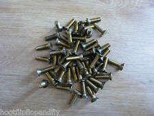 50 x M2.5 x 5 BRASS COUNTERSUNK HEAD SLOTTED MACHINE SCREWS 2.5mm x 5mm ENGINEER