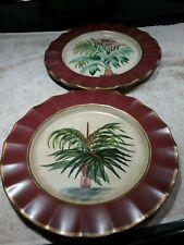 "Set of 2 Toyo Trading Decorative Plates - 10"" - ""Palms"""