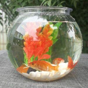 Goldfish Bowl Desktop Round Aquarium 2.8/4L Transparent Plastic Plant Fish Tanks