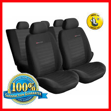 Universal CAR SEAT COVERS full set fits Citroen C3 C4 C5 charcoal grey PATTERN 4