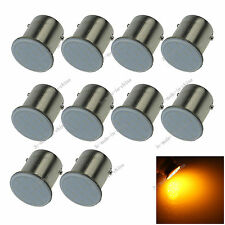 10X Yellow 1156 Ba15s 12 chips COB LED Turn Signal Rear Light Car Bul Lamp D070